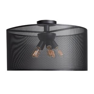 Brayden Studio Lacey Round 6-Light 60W Semi Flush Mount