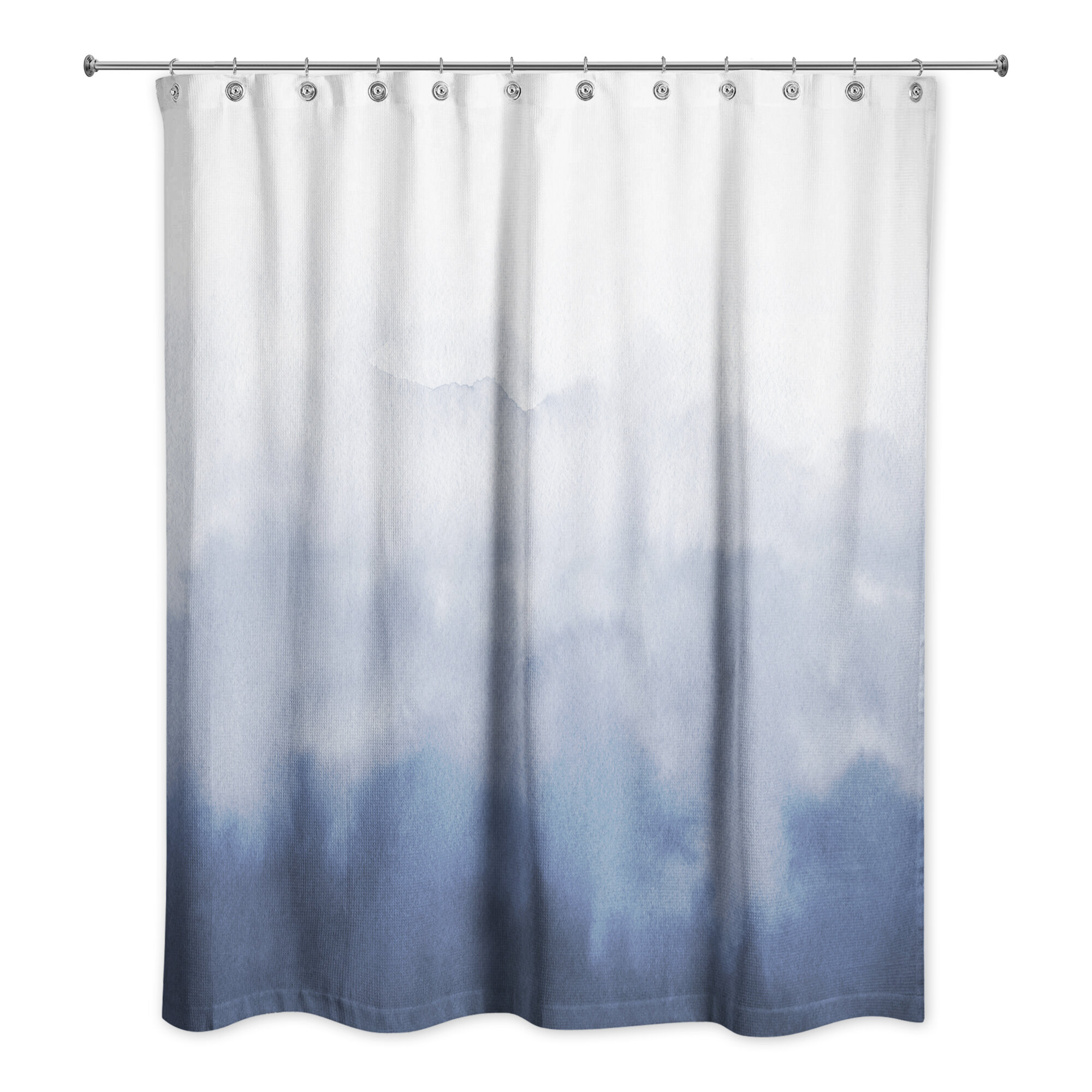 Marble Material Shower Curtain Liner Bathroom Mat Set Watercolor Fabric Hooks
