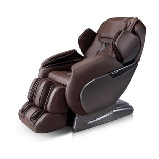 Luxury Genuine Leather Power Reclining Heated Full Body Massage Chair By Winston Porter