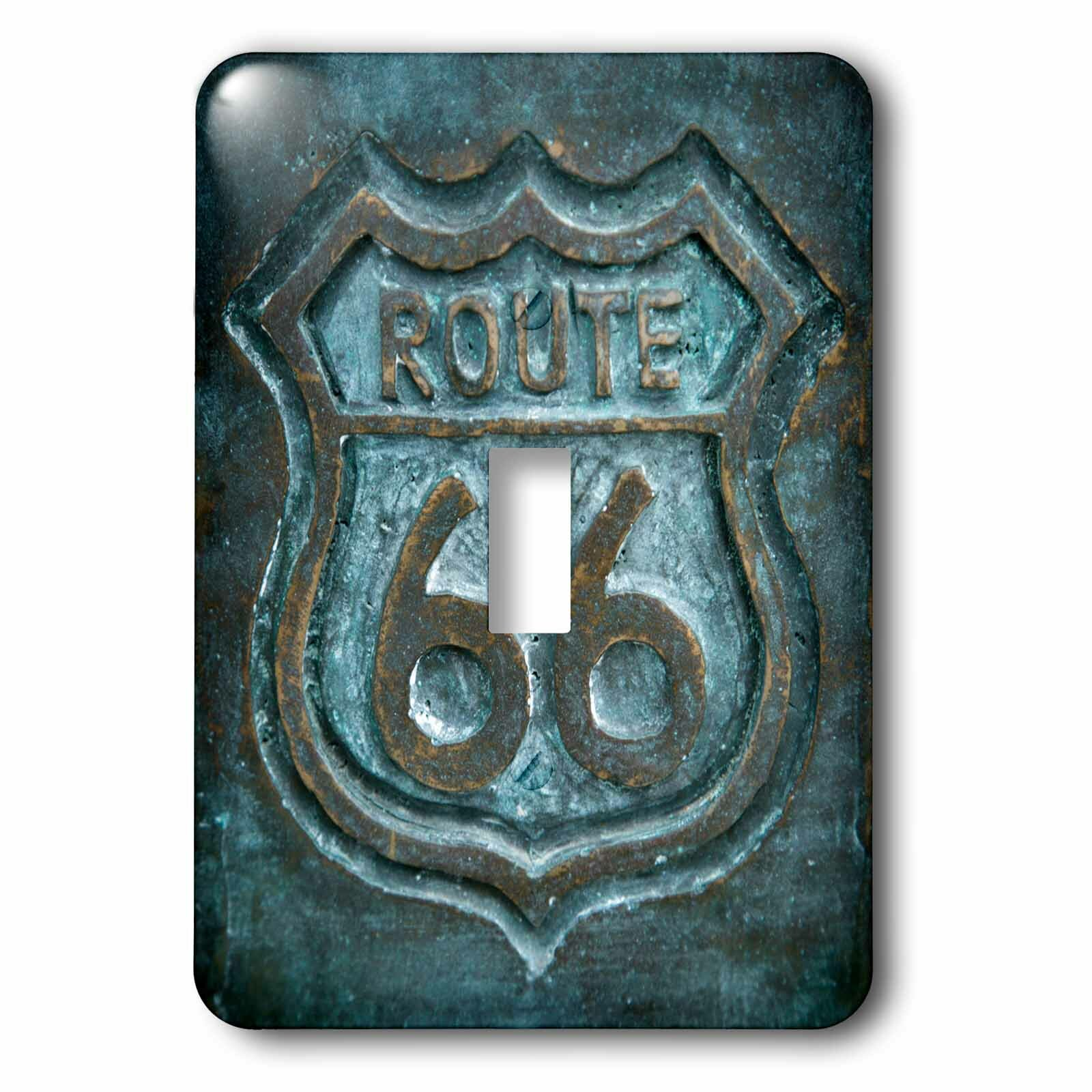 3drose Route 66 Sign 1 Gang Toggle Light Switch Wall Plate Wayfair