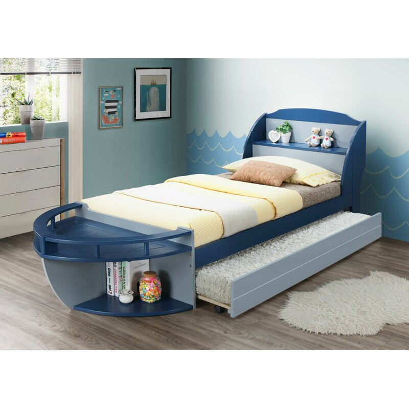 Zoomie Kids Colley Twin Bed With Trundle Wayfair
