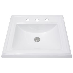 Nantucket Sinks Vitreous China Rectangular Drop-In Bathroom Sink with Overflow