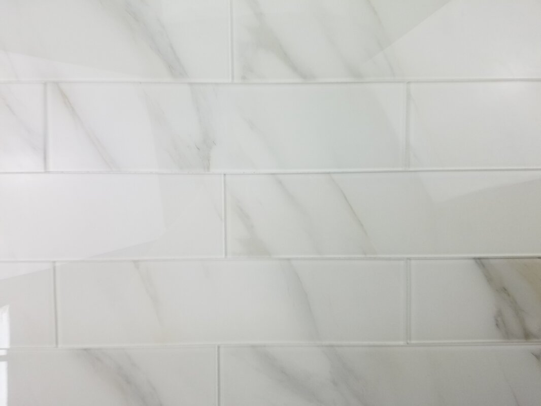 Abolos nature 4 x 16 glass subway tile in calacatta whitegray nature 4 x 16 glass subway tile in calacatta whitegray veins dailygadgetfo Images