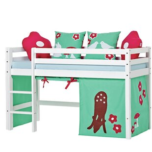 Basic Mid Sleeper Bed With Curtain By Hoppekids