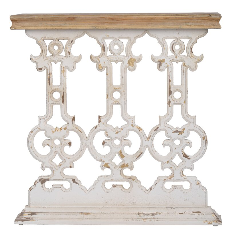 Whitewash vintage style console table