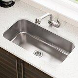 """Stainless Steel 32"""" L x 18"""" W Undermount Kitchen Sink"""