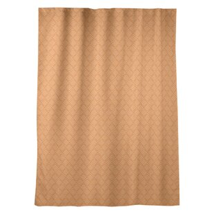 Maze Geometric Room DarkeningThermal Rod Pocket Single Curtain Panel by East Urban Home
