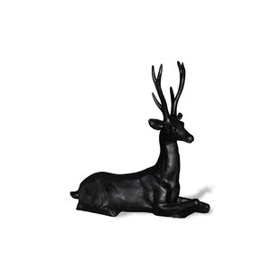 Amedeo Design ResinStone Resting Stag Deer Statue
