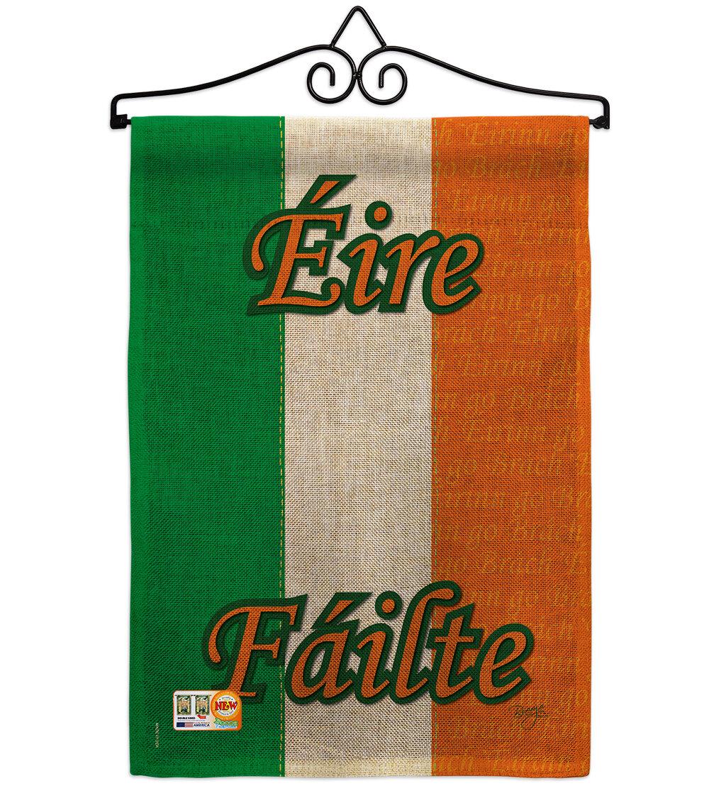 Breeze Decor Ireland 2 Sided Burlap 19 X 13 In Garden Flag Wayfair