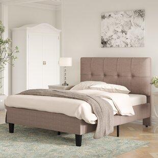 Review Albrecht Upholstered Bed Frame