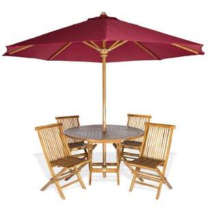 Longshore Tides Masonville Teak 6 Piece Dining Set