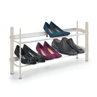 Read Reviews Modular 2-Tier 10 Pair Shoe Rack ByPolder Products LLC