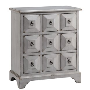 August Grove Gianna 3 Drawer Accent Chest