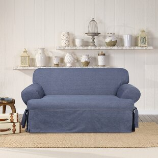 Authentic T-Cushion Loveseat Slipcover
