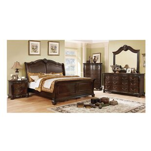 Lena California King Sleigh Configurable Bedroom Set by Astoria Grand