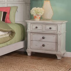 Dorinda Vintage Style 3 Drawer Nightstand by One Allium Way