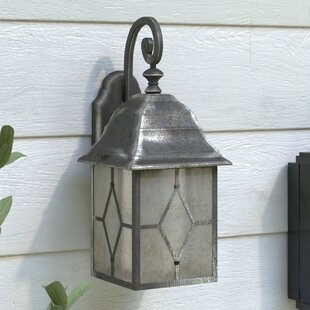 Outdoor wall lights wayfair genoa 1 light outdoor wall lantern mozeypictures Image collections