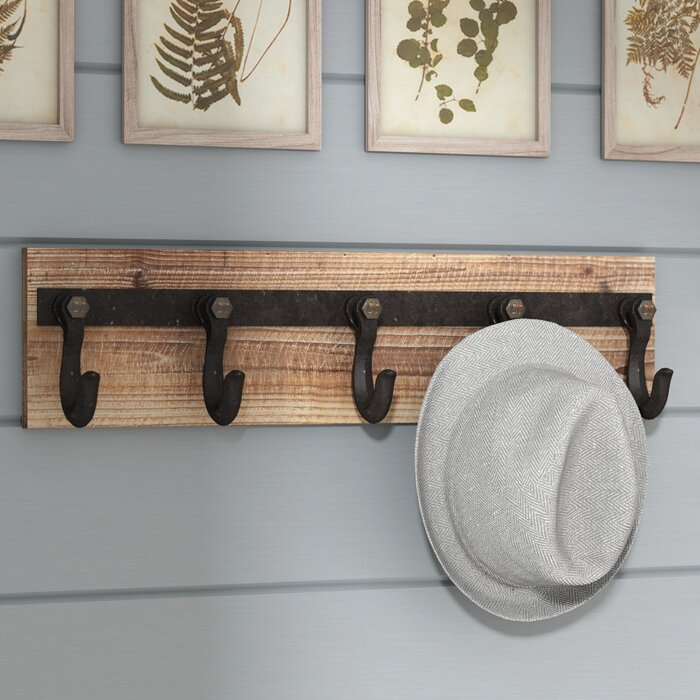 Laurel Foundry Modern Farmhouse Wall Mounted Coat Rack Reviews Inspiration Farmhouse Coat Rack