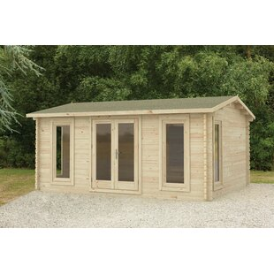Vieira 17 X 14 Ft. Tongue & Groove Log Cabin By Sol 72 Outdoor