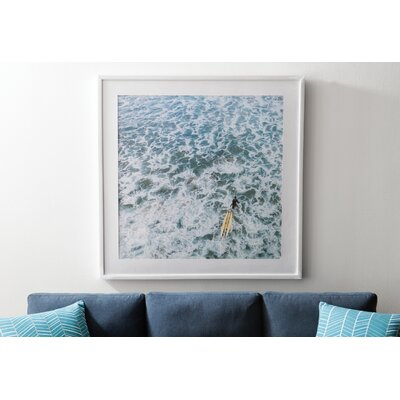 Marmont Hill 'Choppy Waters' Framed Photographic Print Size: 40 H x 40 W, Format: White Floater Frame