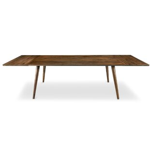 Bradly Extendable Solid Wood Dining Table by Wrought Studio
