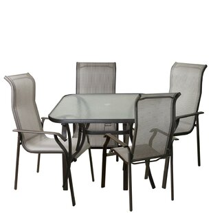 Asay 5 Piece Outdoor Patio Dining Set