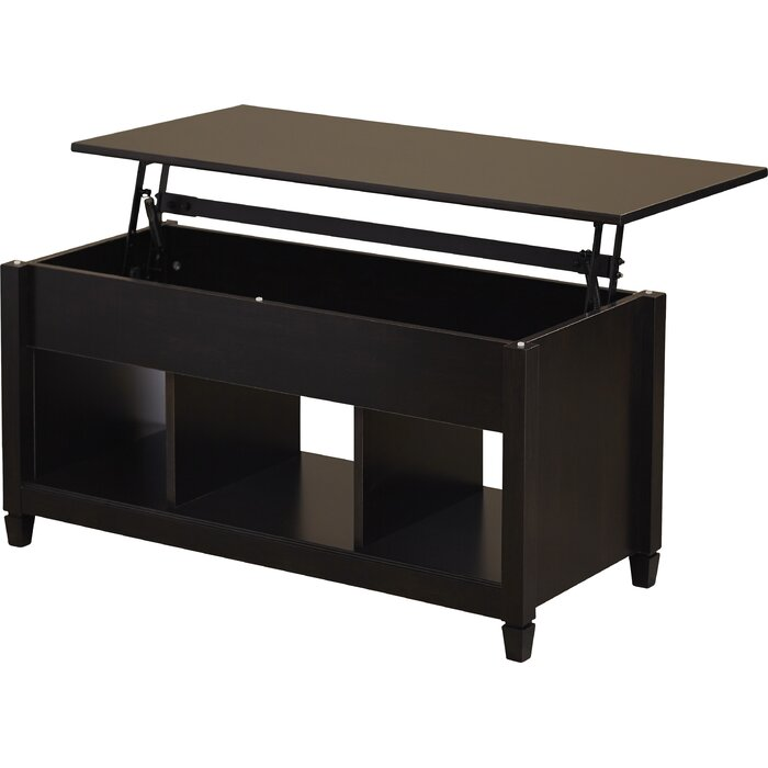 Lift Top Coffee Table Black.Lamantia Lift Top With Storage Coffee Table