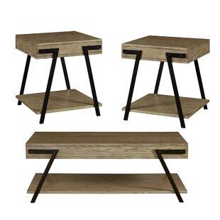 Union Rustic Tolan 3 Piece Coffee Table Set