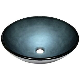 MR Direct Hand-Painted Glass Circular Vessel Bathroom Sink