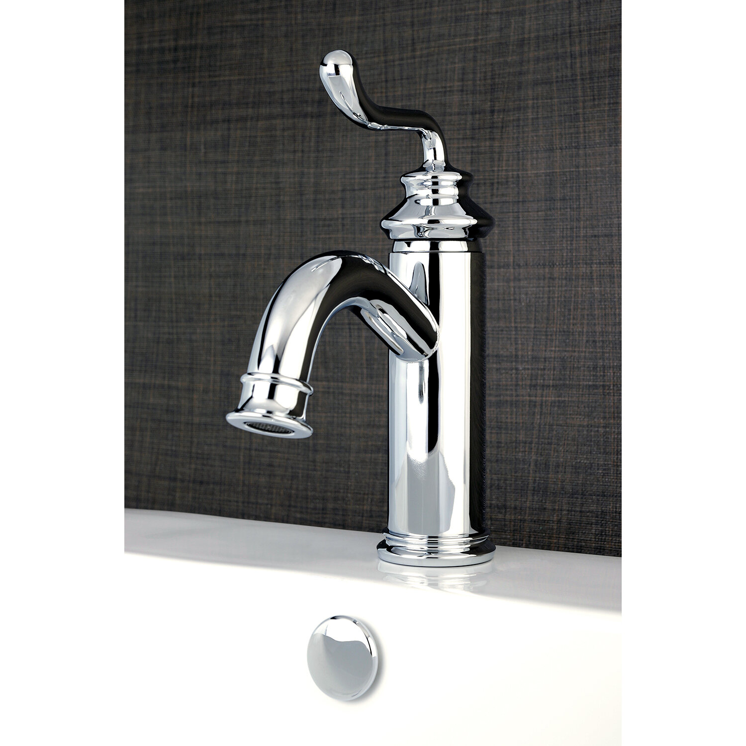 Kingston Brass Royale 1 or 3 hole Bathroom Faucet with Drain ...
