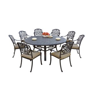 Skyloft 9 Piece Dining Set with Cushions by Astoria Grand