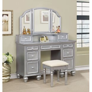 Rosdorf Park Oldana Vanity Set with Mirror