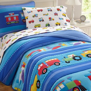 Olive Kids Trains, Planes and Trucks Cotton Comforter Set