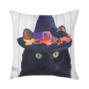 Fergerson Black Cat Indoor/Outdoor Throw Pillow