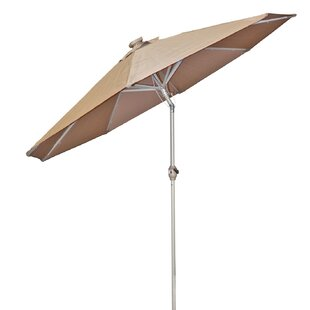 Chalone 9' Lighted Market Umbrella By Latitude Run