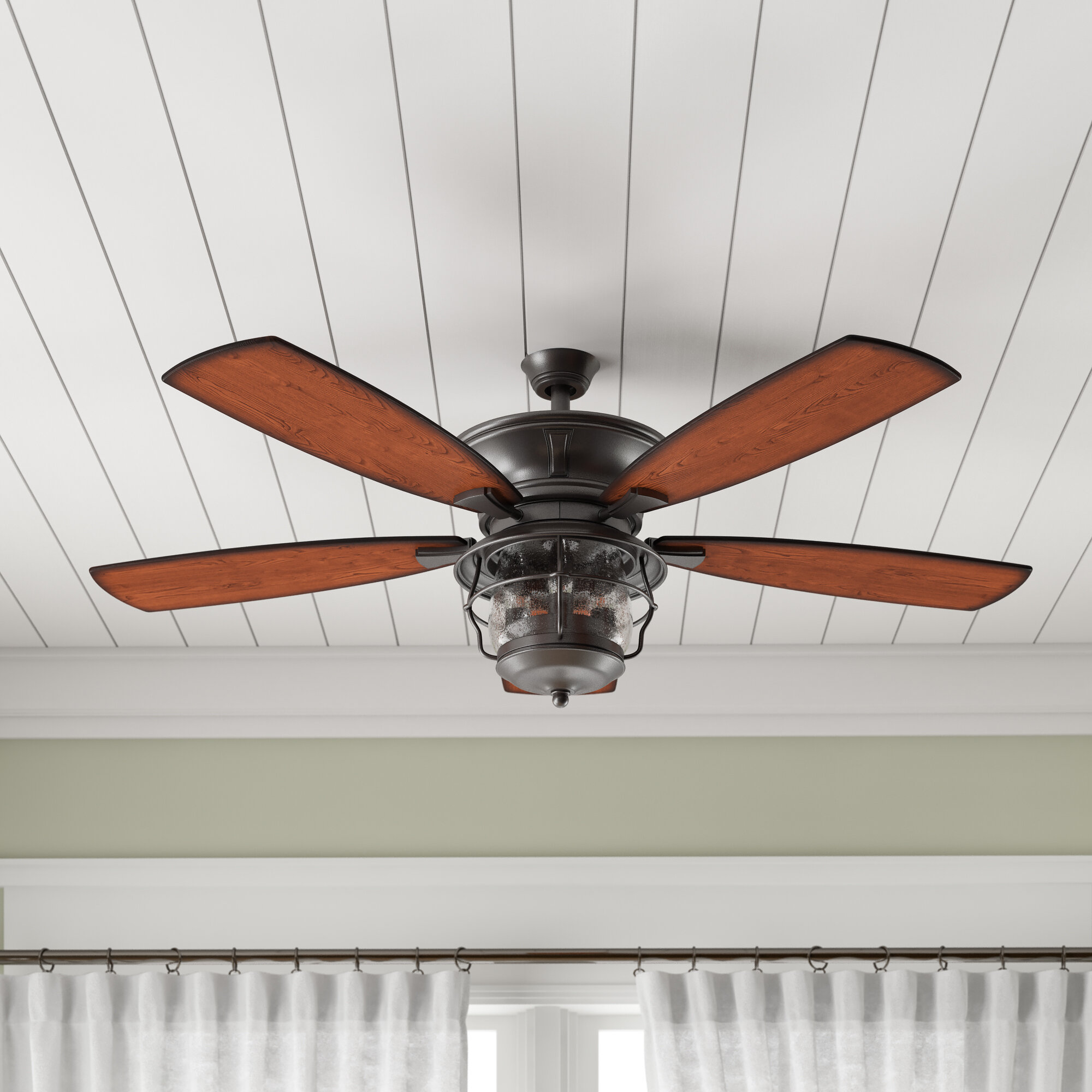 Birch lane heritage 52 quebec 5 blade outdoor ceiling fan light kit included reviews birch lane