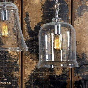 1-Light Bell Pendant by Cole & Grey