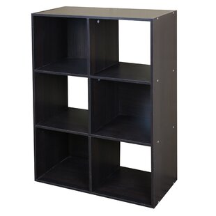 Modern Wood Stackable 6 Cube Bookcase