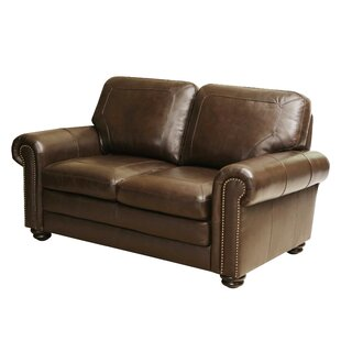 Bolling Leather Loveseat by DarHome Co