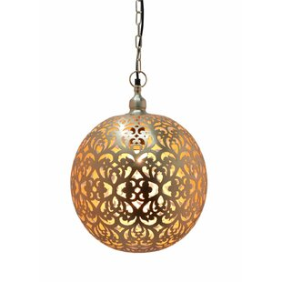 Moroccan pendant lighting wayfair sieben moroccan 1 light globe pendant aloadofball Images