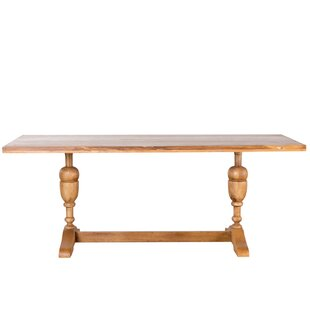 Perera Solid Wood Dining Table World Menagerie