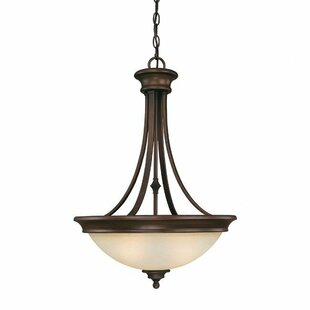 Charlton Home Lindenwood 3 Light Bowl Pendant
