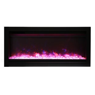 Ellerby Clean Face Recessed Wall Mount Electric Fireplace by Latitude Run
