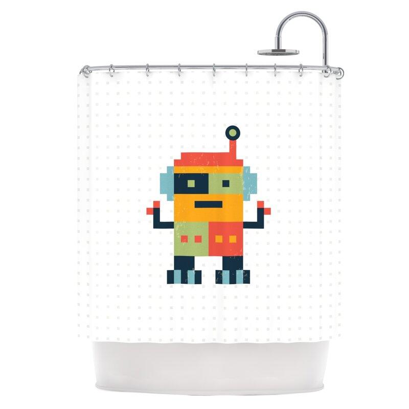 East Urban Home Robot Shower Curtain