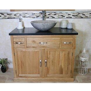 Walter Solid Oak 1000mm Free-Standing Vanity Unit By Belfry Bathroom