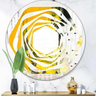 Whirl Marbled 6 Modern  Contemporary Frameless Wall Mirror by East Urban Home