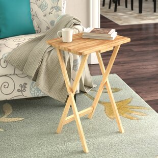 Anthem Folding TV Tray Table With Stand (Set Of 4)