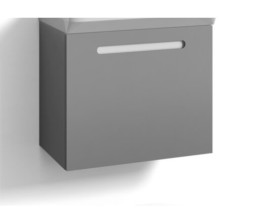 Zachary 60cm Wall Mounted Vanity Unit Base Belfry Bathroom Base Finish: Grey