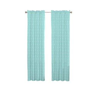 Garris Animal Print Blackout Rod Pocket Single Curtain Panel