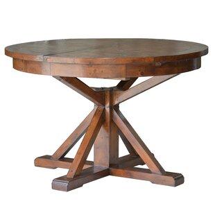 Loon Peak Yorba Linda Round Extendable Dining Table